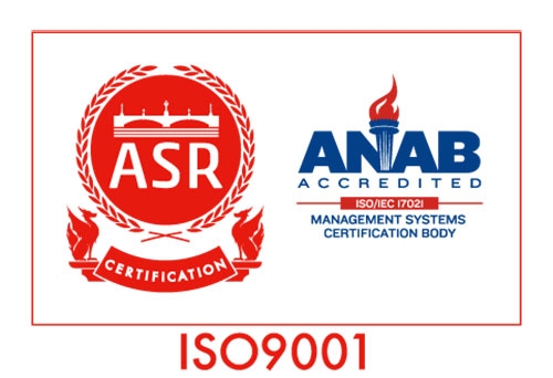 ISO9001 ASR CERTIFICATION ANAB ACCREDITED